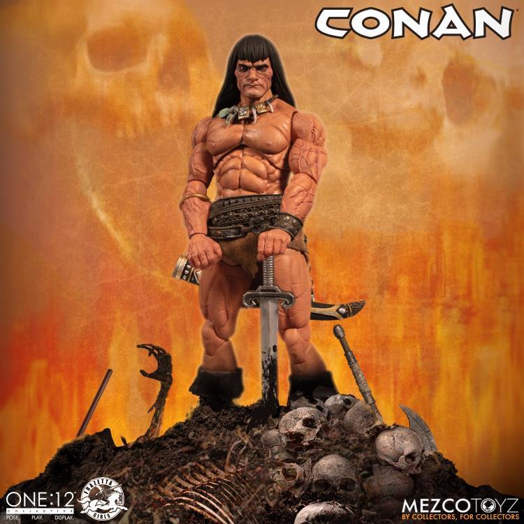 mezco toyz one 12 conan figure - wide shot