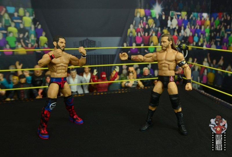 wwe elite 70 johnny gargano figure review - face off with adam cole