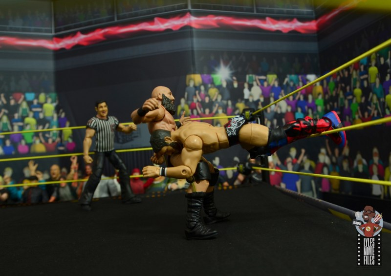wwe elite 70 johnny gargano figure review - spear to ciampa