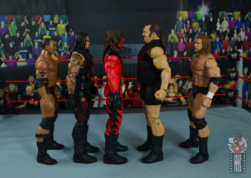 wwe elite 71 the big show figure review - facing the rock, undertaker, kane and triple h