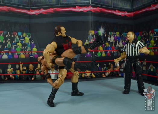 wwe elite 71 the big show figure review - side slam to the rock