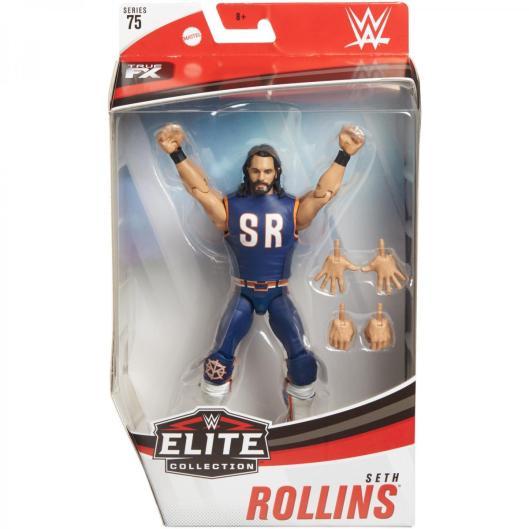 wwe elite 75 - seth rollins figure -package front
