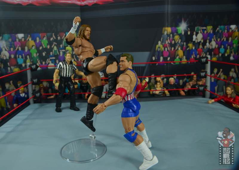 wwe ultimate edition triple h figure review - flying knee smash