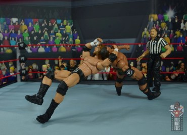 wwe ultimate edition triple h figure review - swinging neckbreaker to the rock