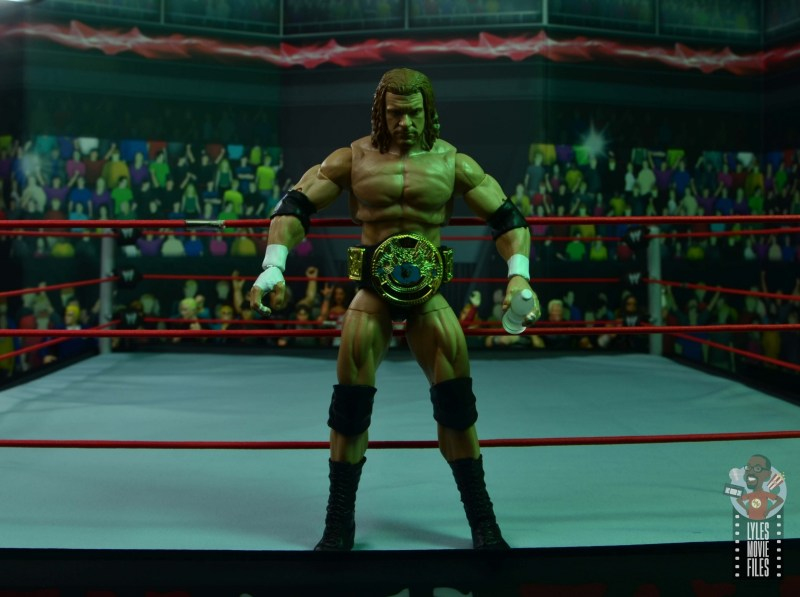 wwe ultimate edition triple h figure review - wide shot ring entrance