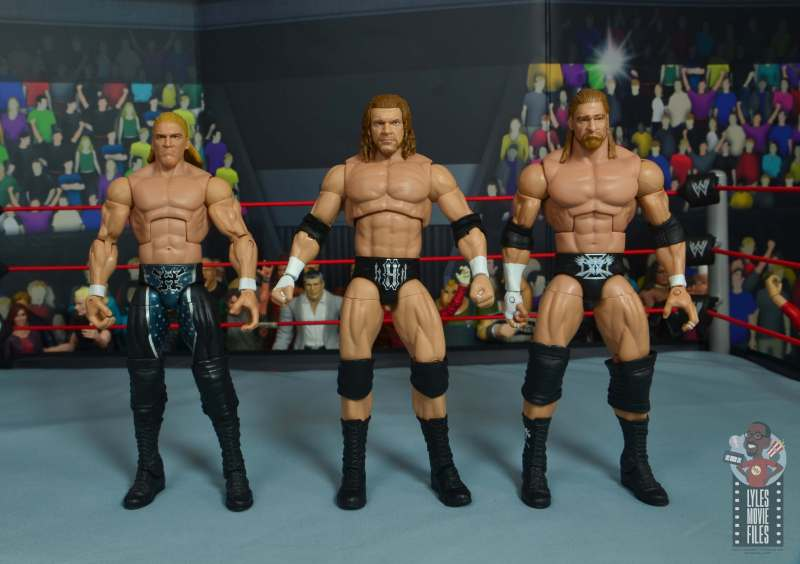 wwe ultimate edition triple h figure review - with earlier triple h figures