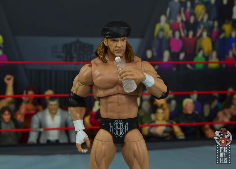 wwe ultimate edition triple h figure review - with kango and water bottle