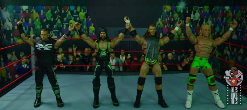 wwe ultimate edition triple h figure review - with road dogg, x-pac and billy gunn