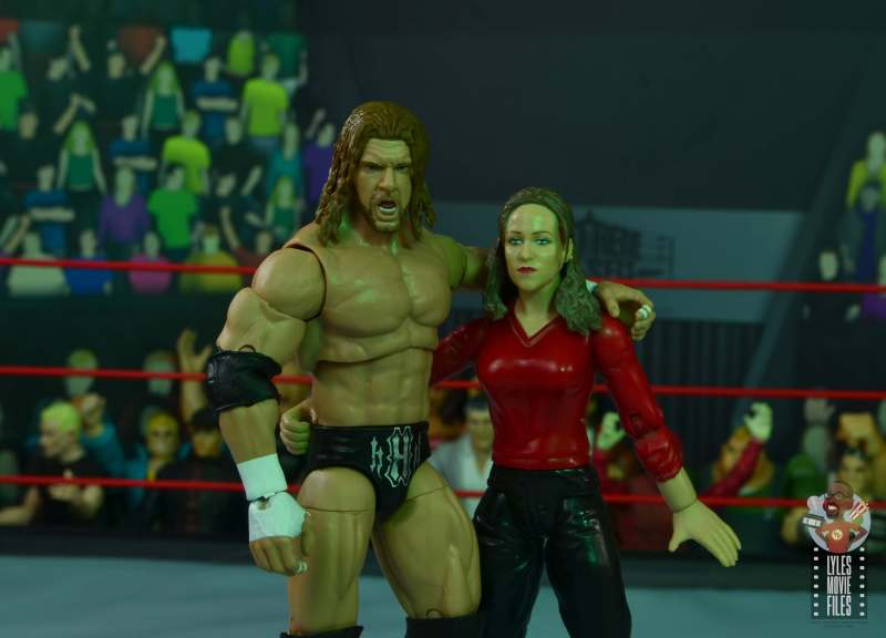 wwe ultimate edition triple h figure review - with stephanie mcmahon