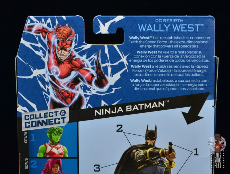 dc multiverse wally west figure review - package bio