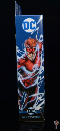 dc multiverse wally west figure review - package side