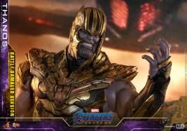 hot toys avengers endgame thanos battle damaged figure - close up with helmet