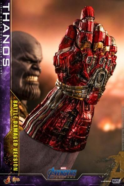 hot toys avengers endgame thanos battle damaged figure - snapping nano gauntlet