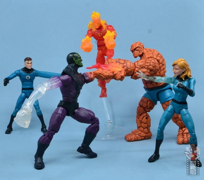marvel legends build-a-figure super skrull figure review - vs fantastic four
