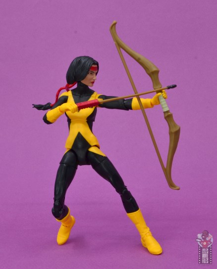 marvel legends dani moonstar figure review - aiming arrow