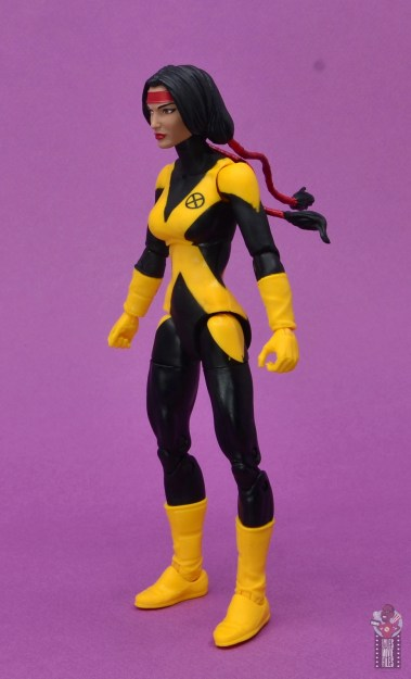 marvel legends dani moonstar figure review - left side