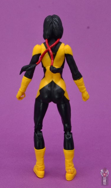 marvel legends dani moonstar figure review - rear