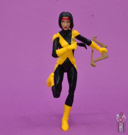 marvel legends dani moonstar figure review - running