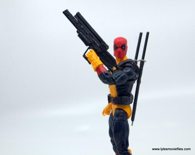 marvel legends deadpool figure review - blaster detail