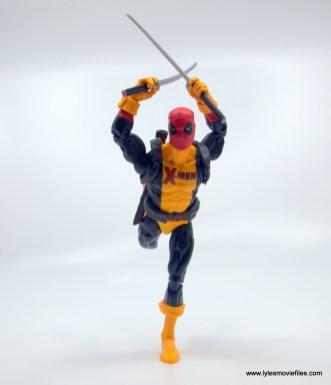 marvel legends deadpool figure review - charging with swords