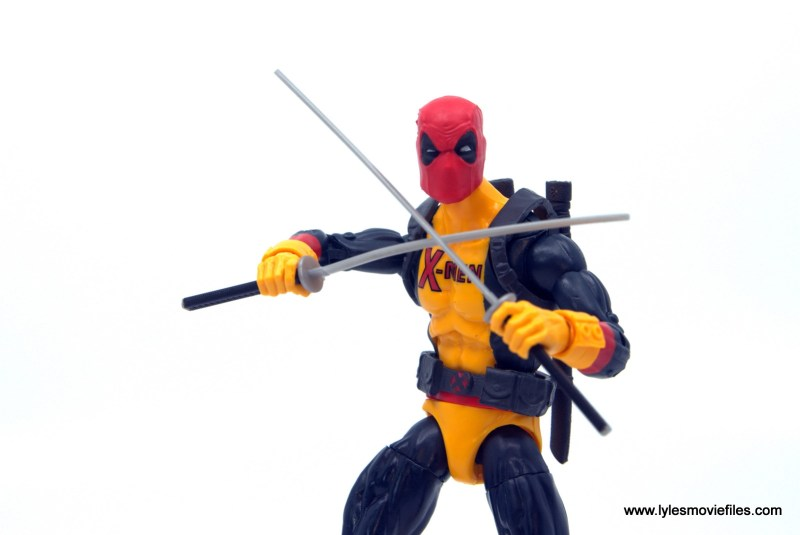 marvel legends deadpool figure review - crossing swords