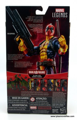 marvel legends deadpool figure review - package rear