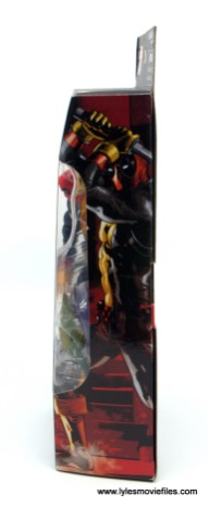 marvel legends deadpool figure review - package side