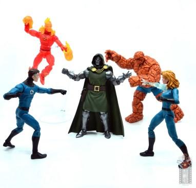 marvel legends doctor doom figure review - taking on the fantastic four