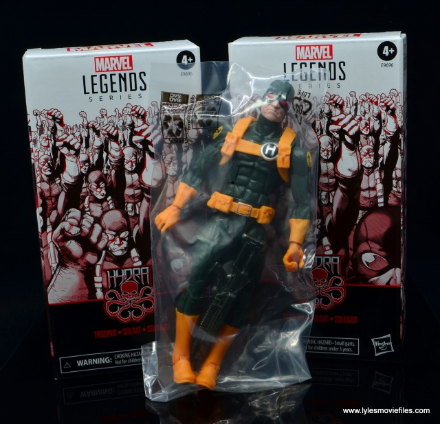 marvel legends hydra soldier figure review - in plastic baggy