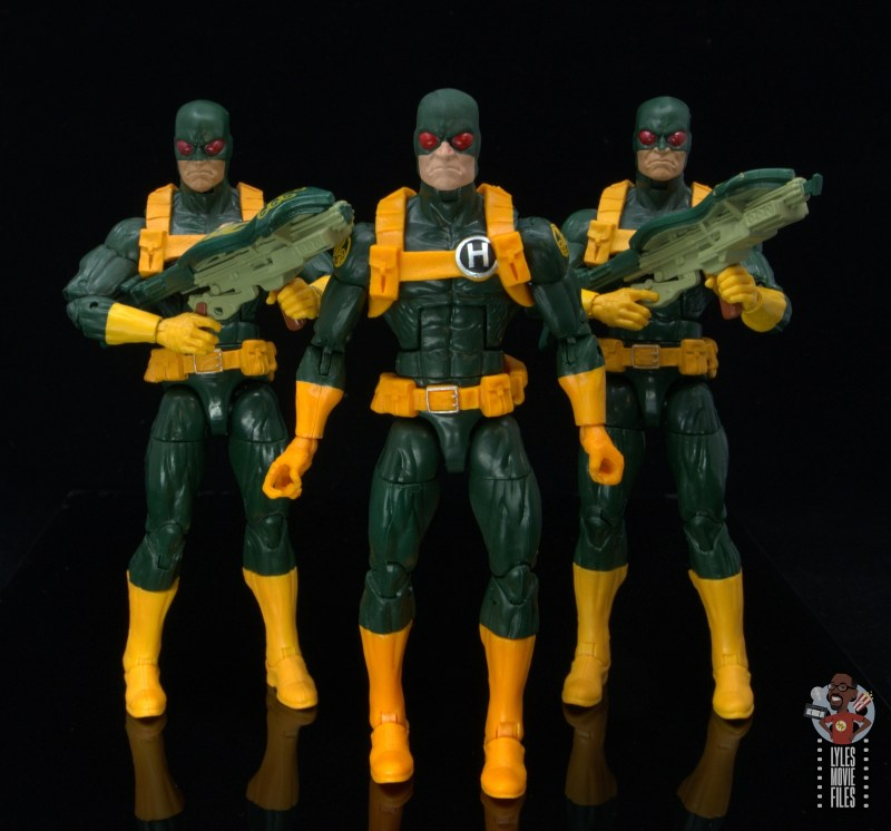 marvel legends hydra soldier figure review -with original hydra soldiers at attention