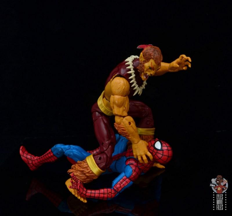 marvel legends puma figure review - choking spider-man