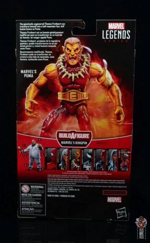 marvel legends puma figure review - package rear