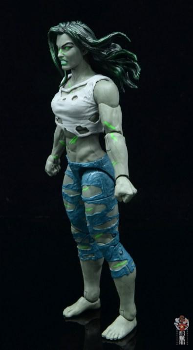 marvel legends she-hulk figure review - left side