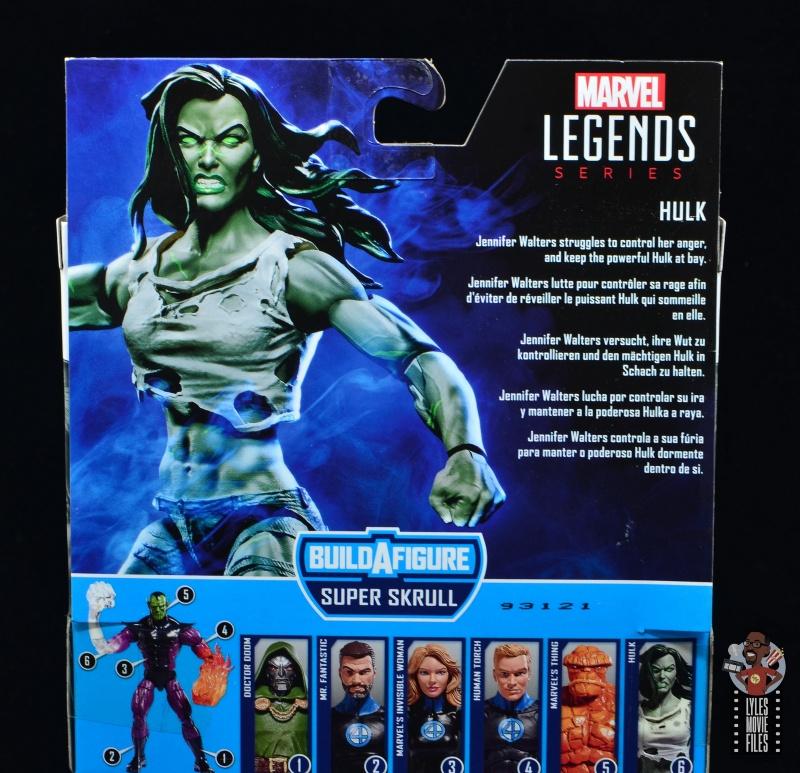 marvel legends she-hulk figure review - package bio