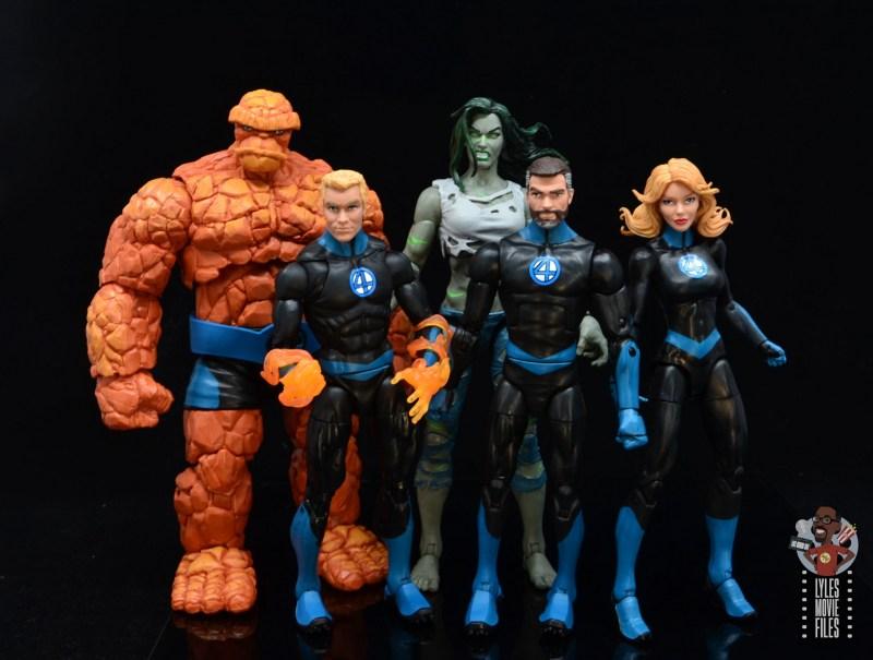 marvel legends she-hulk figure review - with modern fantastic four