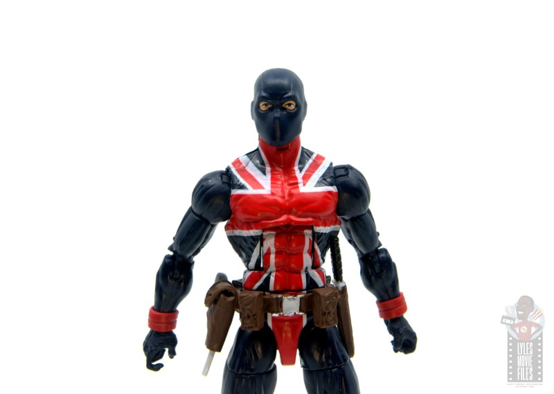 marvel legends union jack figure review - wide shot