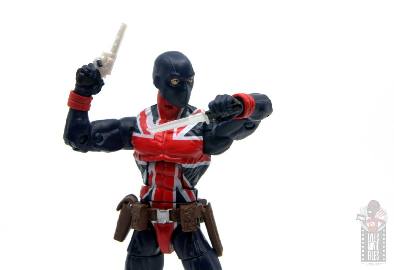 marvel legends union jack figure review - with revolver and knife