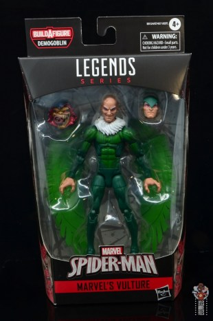 marvel legends vulture figure review - package front