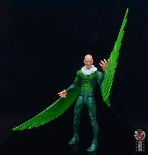 marvel legends vulture figure review - raising left wing