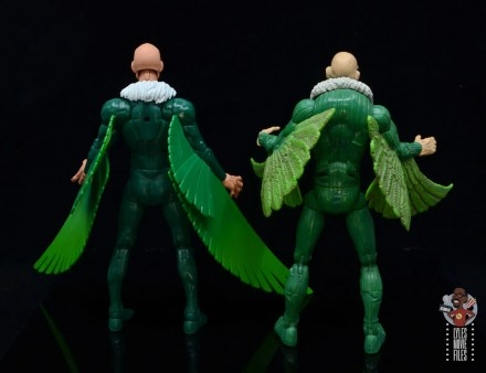 marvel legends vulture figure review - rear with toy biz vulture