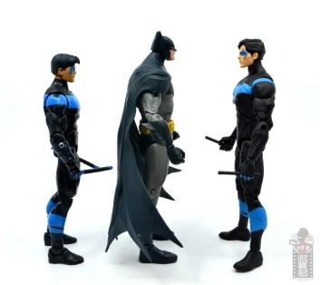 mcfarlane dc multiverse baman figure review - facing mattel nightwing and dc essentials nightwing