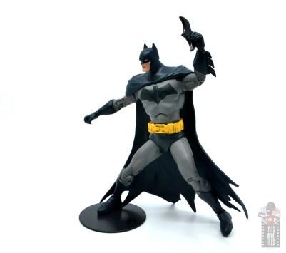 mcfarlane dc multiverse baman figure review - side shot of batarang tossing