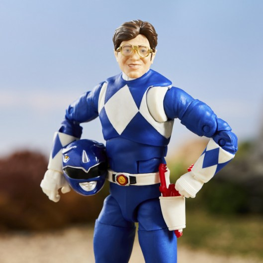 mighty morphin power rangers blue ranger - billy without helmet