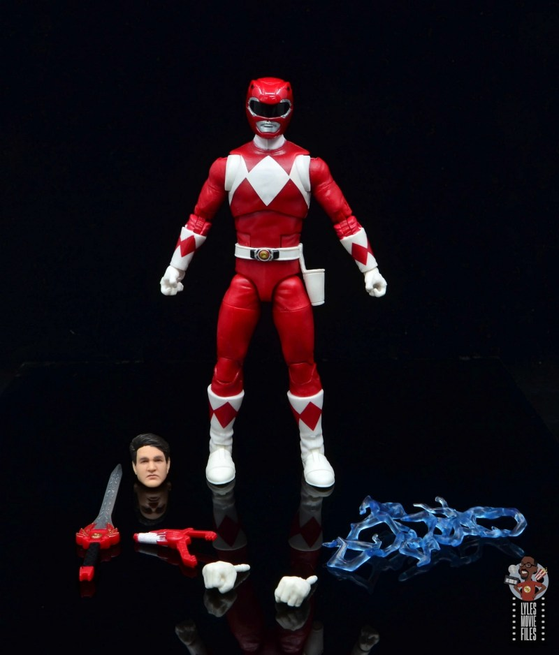 power rangers lightning collection red ranger figure review - with all the accessories