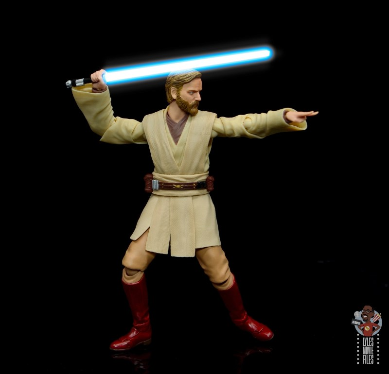 sh figuarts obi-wan kenobi revenge of the sith figure review - battle stance