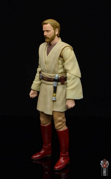 sh figuarts obi-wan kenobi revenge of the sith figure review - left side