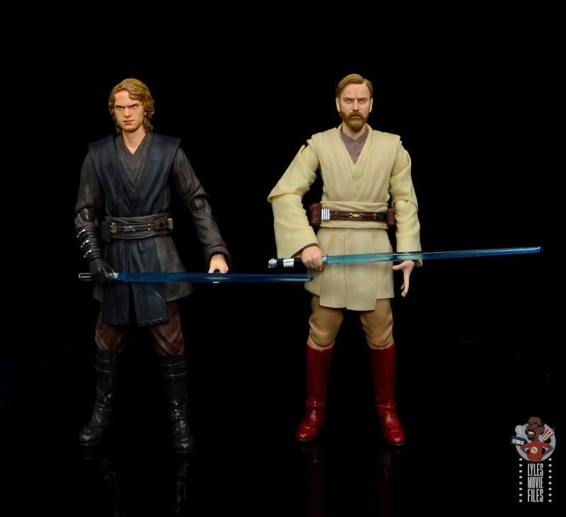 sh figuarts obi-wan kenobi revenge of the sith figure review - ready for battle with anakin