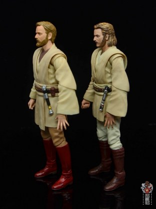 sh figuarts obi-wan kenobi revenge of the sith figure review -side with attack of the clones obi-wan