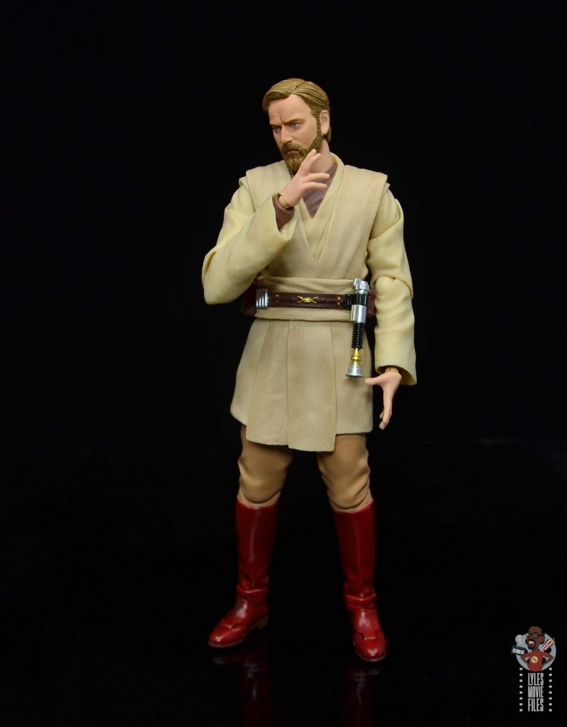 sh figuarts obi-wan kenobi revenge of the sith figure review - stroking chin