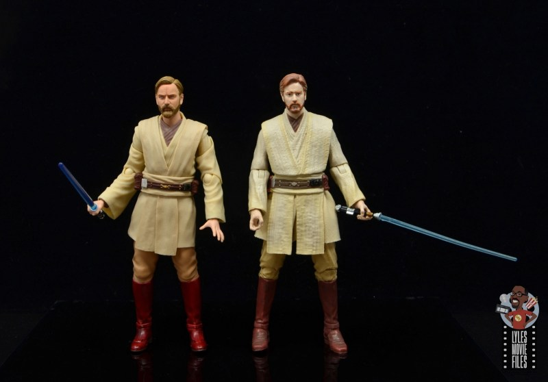 sh figuarts obi-wan kenobi revenge of the sith figure review - with star wars the black series obi-wan